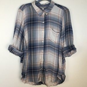Lucky brand plaid buttons down shirt. Size 1X